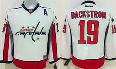 """$34.88 at """"MaryJersey""""(maryjerseyelway@gmail.com) Capitals 19 Nicklas Backstrom White Stitched Youth NHL Jersey"""