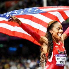 Sanya Richards-Ross finally won gold in the women's 400 meters! And of course she coached by Baylor legend Clyde Hart!