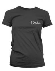 """""""Doula"""" T-shirt in black or pink $21"""