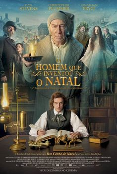 """THE MAN WHO INVENTED CHRISTMAS The journey that led to the creation of Ebenezer Scrooge (Christopher Plummer) and other classic characters from """"A Christmas Carol."""" The film shows how Charles Dickens (Dan Stevens) conjured up a timeless tale. Streaming Movies, Hd Movies, Movies To Watch, Movies Online, Movies And Tv Shows, Movies Free, 2017 Movies, Hd Streaming, Movie Tv"""