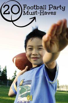 Football Birthday Party Ideas for Boys www.spaceshipsandlaserbeams.com