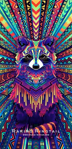 """""""Raring Ringtail"""" Copyright © 2016 Sylvia Ritter Inspired by Ubuntu release 13.04. Created with Krita."""