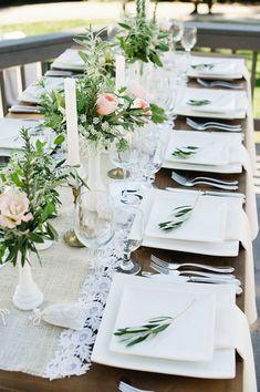 Romantic wedding reception #outdoorwedding #weddingtable #rusticwedding #tablescape #weddingdecor