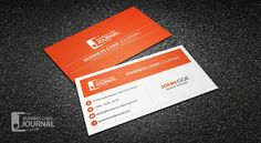 Free Professional & Minimal Corporate Business Card Template => more at designresources.io