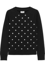 Swetc Sydney embellished stretch-cotton jersey sweatshirt