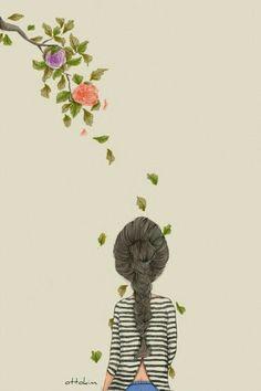 Risultati immagini per ottokim Art Anime, Anime Art Girl, Chibi Manga, Pretty Drawings, Illustration Girl, Cute Wallpapers, Cute Art, Illustrations Posters, Watercolor Art