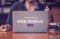 Hasna - One Page Responsive Business. Bootstrap Themes. $15.00