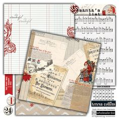 Santa's List is the new holiday collection from Teresa Collins! Like always, pops of glitter are the perfect addition to traditional Christmas colours. Tons of fun embellishments in this line makes it the perfect holiday scrapbooking collection.