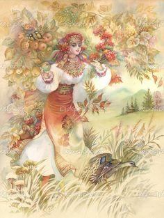 Молодая женщина в Украинский костюм - Стоковое изображение: 13280595