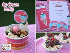 Ice Cream Party by PrintablesByAmy.com