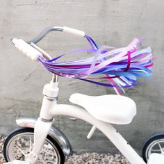 Retro Your Ride Bicycle Streamers - Streamers for your Bike, Trike or Scooter Handlebars - Retro, Cool, and Handmade  Unicorn Taffy