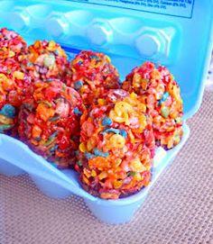 Fruity pebble Easter eggs @Melissa Hanscome