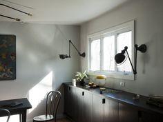 Jielde lights in the kitchen - love it!