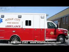 Remounted Ambulance Delivery by VCI to Ocean City Fire Department 2015 F...
