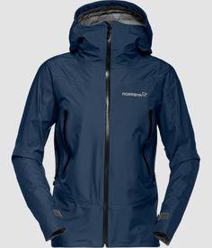 Norrøna Falketind Gore-Tex Jacket (W) Indigo Night Trekking, Gore Tex Fabric, Better Weather, North Face Rain Jacket, Gore Tex Jacket, Waterproof Fabric, Nike Jacket, Indigo, Hooded Jacket