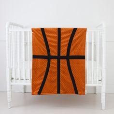 Basketball Themed Baby Blanket