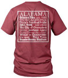 Alabama Verbiage Distressed Comfort Colors Pocket Tee