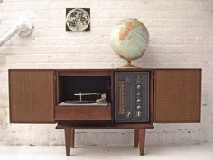 Record Player / Solid State Stereo Cabinet  by OTHERTIMESvintage