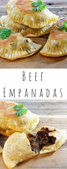 I love empanadas and these Oven Baked Beef Empanadas are no exception! Perfectly hand-sized, they are great for a casual family dinner with a Mexican-flavored theme! http://DelectableCookingandBaking.com | #beefempanadas #beefdinner #mexicannight #empanadadough