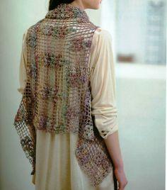 Patrones Crochet: Chaleco de una Pieza Patron