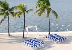 Tranquil site for your Beach Wedding at the Key Largo Marriott Bay Resort.  Photography by McLaughlinPhotoVideo.com