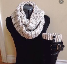 Handmade infinity scarf with matching boot cuffs. So cute. #Etsy