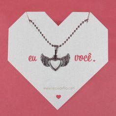 eu <3 você.  #necklace #diadosnamorados #love #heart  www.lacosdefilo.com