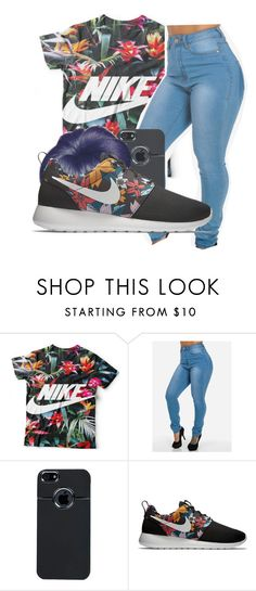 """""""Untitled #248"""" by neca-xoxo ❤ liked on Polyvore featuring Boohoo and NIKE"""