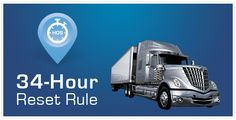 Hours of Service HOS 34 hour reset rule for trucks