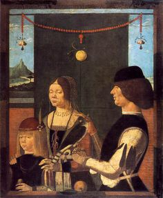 UNKNOWN MASTER, Italian Family of Uberto de' Sacrati 1480s by fionasfancies, via Flickr