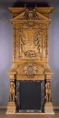 Mantel piece from the Thurlow Lodge attributed to the Herter Brothers