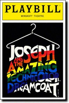 Joseph and the Amazing Technicolor Dreamcoat Playbill Covers on Broadway - Information, Cast, Crew, Synopsis and Photos - Playbill Vault