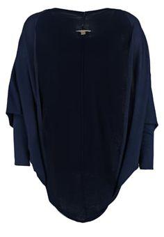 FLOW - Neuletakki - navy Flow, Navy, Blouse, Long Sleeve, Sleeves, Tops, Women, Fashion, Spirit