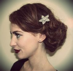 Up do with vintage sparkle