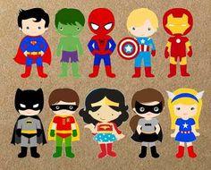 lembrancinha feita com cartolina super herois - Pesquisa Google