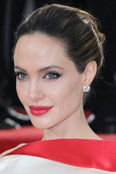 Angelina Jolie. Such a pretty picture of her. Gorgeous makeup and gorgeous dress!