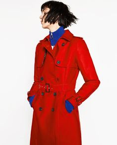 Image 1 of WATER RESISTANT TRENCH COAT from Zara