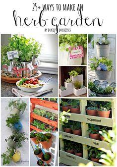 25+ ways to make an herb garden