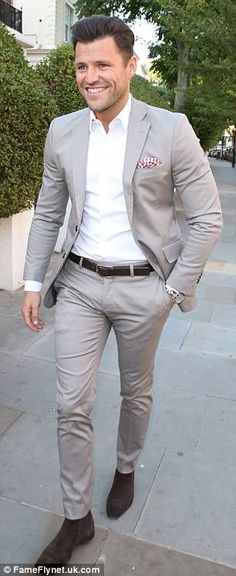 Stylish Men, Men Casual, Mark Wright, Classic Outfits, Formal Wear, Men Fashion, Street Style, Blazer, Suits