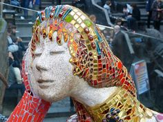 mosaic statues faces - Google Search