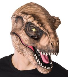 Even though you've grown up from the aspiring dinosaur researcher of your childhood into the thrilling action and adventure movie fan you are today, you still believe the proud, fierce and mighty Tyrannosaurus Rex is the king of the dinosaurs. Now, with this Jurassic World T-Rex mask, the tyrannosaurus rex is the king of your costume closet and Halloween party, too.