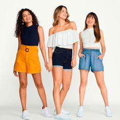 Short jeans escuro cintura alta modelagem tradicional   com 70% de elasticidade em sua composição e efeito chapa barriga, que valoriza a silhueta, disponível do tamanho 34 ao 46. Encontre no #aplicativo #Posthaus usando o código: 5903381 #JeansdoPPaoPlusSize #jeans #doPaoGG #shorts #comfy #clochard #tradicional Shorts Jeans, Sexy, Plus Size Fashion, Casual, Ideias Fashion, Short Dresses, Women, Dark Jeans, Plus Fashion