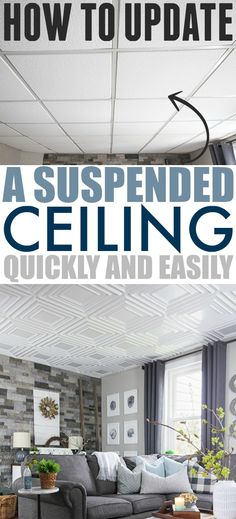 How to Update a Suspended Ceiling | The Creek Line House
