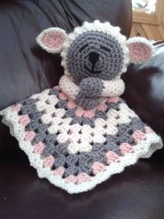 Crochet Lamb Lovey Security Blanket - PDF pattern, via Etsy. Crochet Security Blanket, Crochet Blanket Patterns, Baby Blanket Crochet, Crochet Baby, Knitting Patterns, Knit Crochet, Lovey Blanket, Crochet Lovey Free Pattern, Crotchet