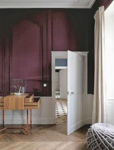 photo décoration salon prune et gris   À acheter   Pinterest ...