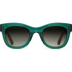 TOMS Chelsea Emerald Crystal Sunglasses (£115) ❤ liked on Polyvore featuring accessories, eyewear, sunglasses, green, crystal glasses, toms glasses, crystal sunglasses, green sunglasses and green glasses