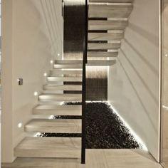Автоматическая подсветка ступеней лестницы. Подсветка лестницы. Освещение лестницы