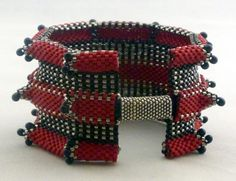Bracelets - Stitches used: MRAW ~ Modified Right Angle Weave, Peyote and herringbone.