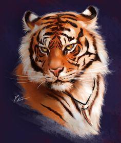Tiger by Yana Kot on ArtStation.