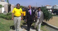 Visit to Amrita Center, Athi River. Lion Hirji, International Director Jagdish Gulati and Lion Rao